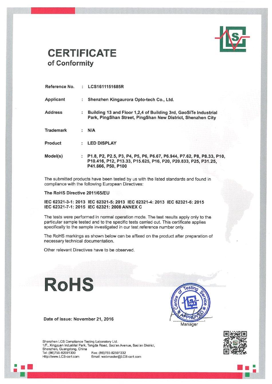 сертификат FCC
