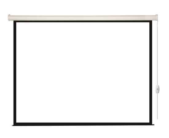 Проекционный настенный экран Lumien Eco Control LEC-100104 с электроприводом, 244x244см — фото 1