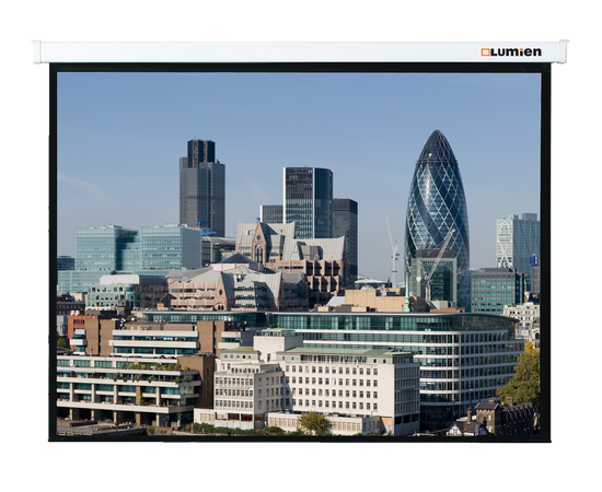 Проекционный настенный экран Lumien Master Control LMC-100105 с электроприводом, 244x244см — фото 1
